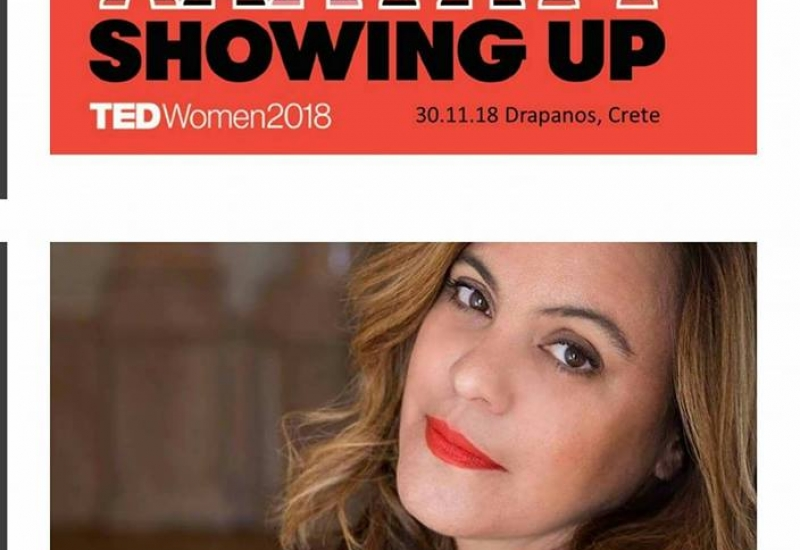 Μιλώντας στο Tedx Dparanos στην Κρήτη.
