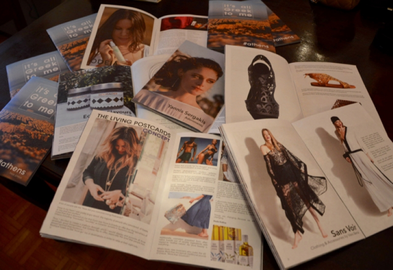Our ''Living Postcards''Presentation at ''It's all Greek to me'' magazine.